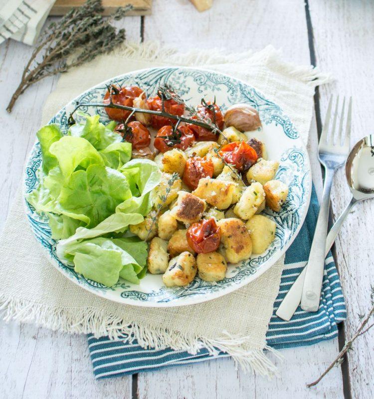 Gnocchis de pomme de terre, courgette et parmesan