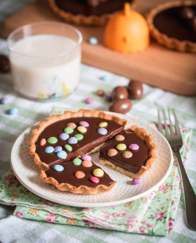 Tartelettes au chocolat et crème de noix de coco