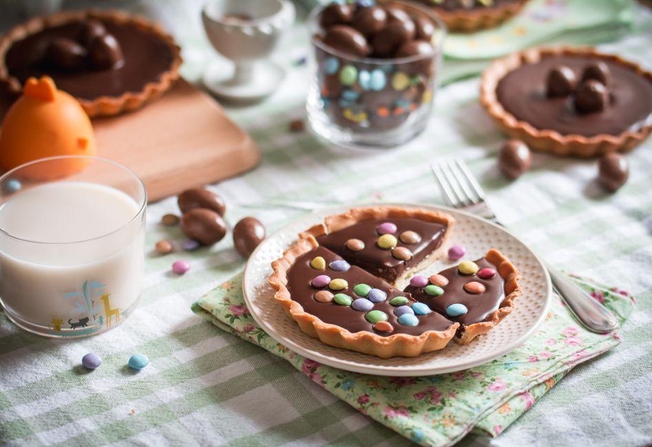 Tartelettes décorées au chocolat pour Pâques | Jujube en cuisine