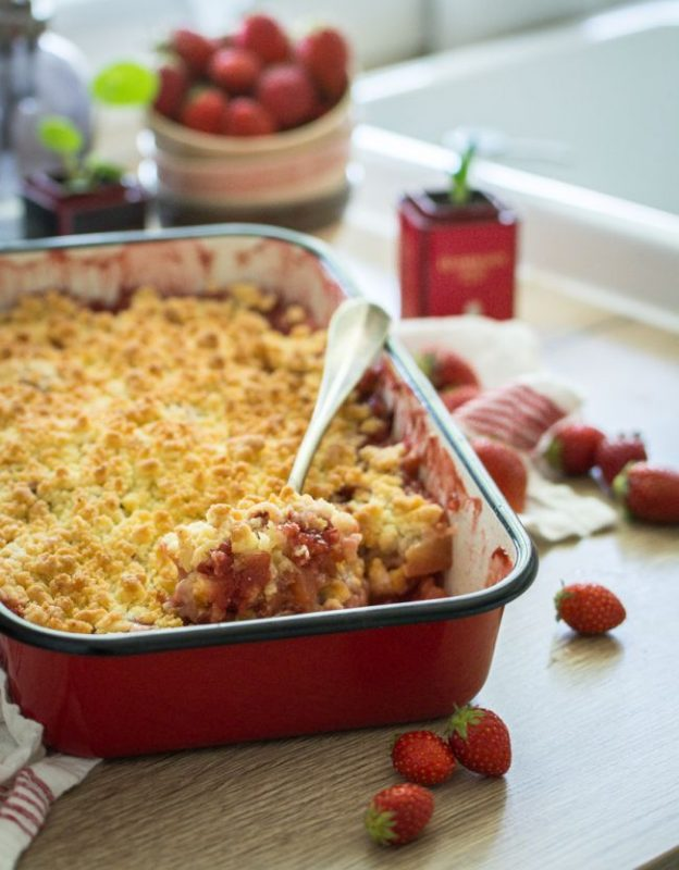 Recette crumble pomme fraise   Jujube en cuisine